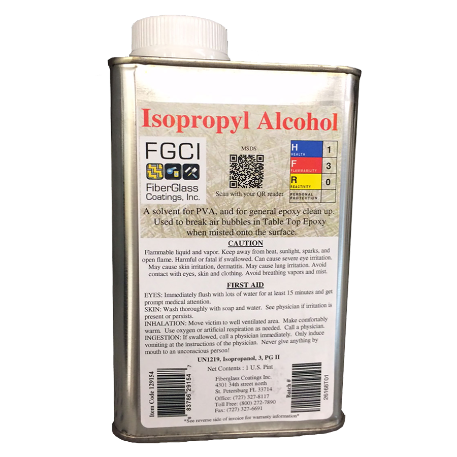 Isopropyl Alcohol 99 Solvent 1 Pt For Cleaning Brushes Tools Etc